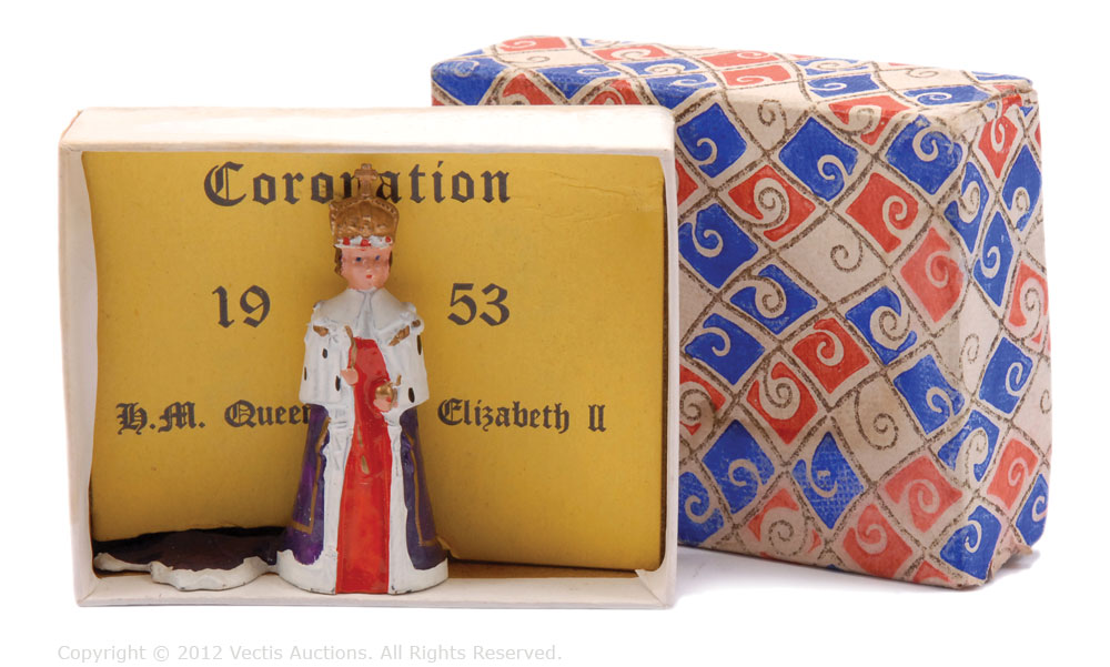 Name:  Queen Elizabeth, in full Coronation Robes & Crown  [Timpo; boxed; 1953].jpg Views: 136 Size:  122.2 KB